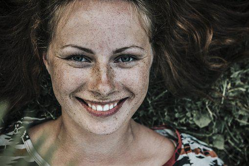 Beautiful Freckles Girl Model Person Portr