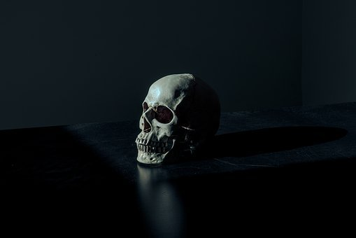 Creepy, Dark, Eerie, Scary, Skull, Death