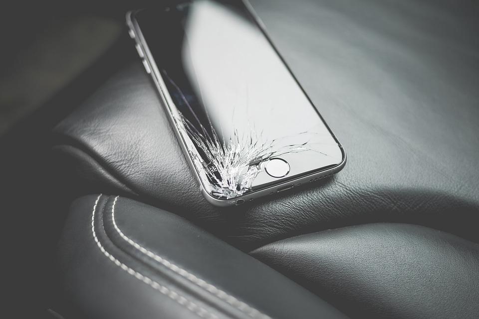 Brand, Broken, Close-Up, Cracked, Damaged, Iphone