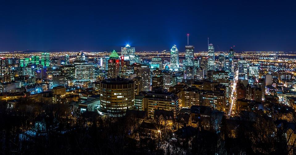 アーキテクチャ, 建物, 市, 街の灯, 都市の景観, 夜, オフィス, 空, スカイライン, 超高層ビル