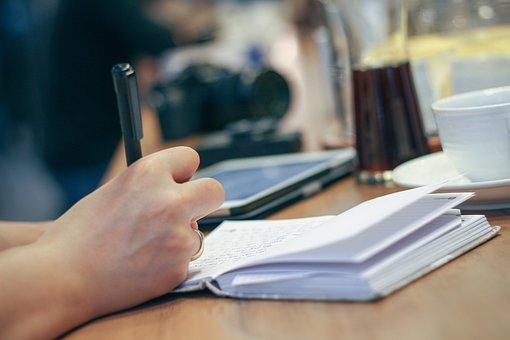 Hand, Write, Pen, Notebook, Journal