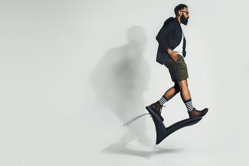Equilibrio, Silla, La Moda, Hombre