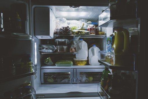 Bottles, Food, Gallon, Inside, Light