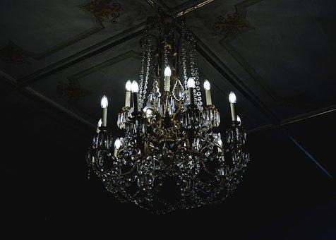 Kronleuchter Dunkel Dekoration Glas Beleuc