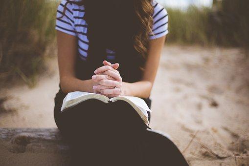 ビーチ, 女の子, レジャー, アウトドア, 人, 祈り, レクリエーション