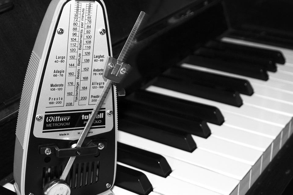 Black and white classical music music piano time