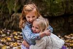 dzieci, siostry, ładny