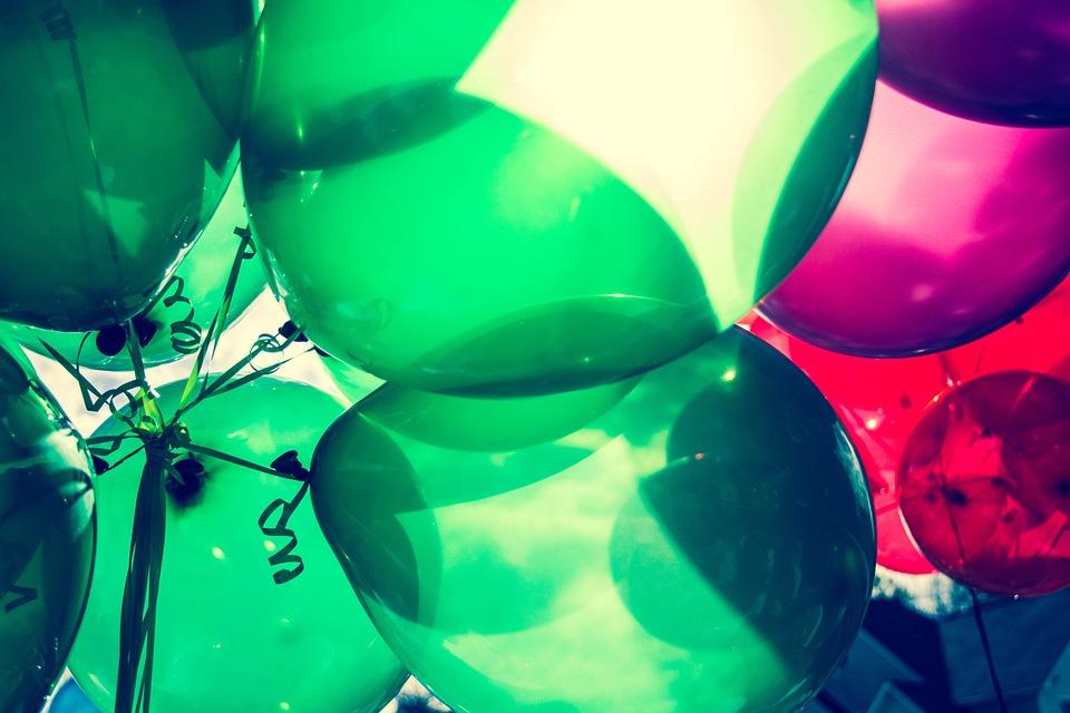 Ballons, Anniversaire, Célébrer, Célébration