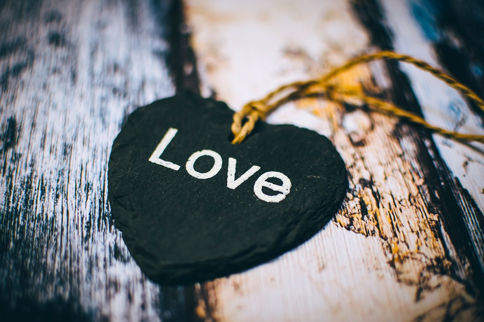 Close-Up, Heart, Rustic, Text, Wooden, Love