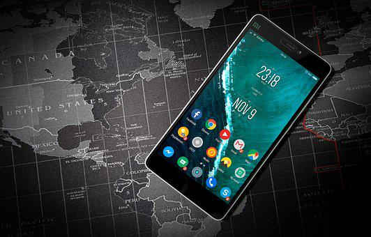 Phone, Android, Apps, World Map
