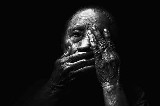 Adult, Aged, Blur, Dark, Face, Hands