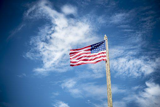 American Flag, Flag, Flagpole, Outdoors