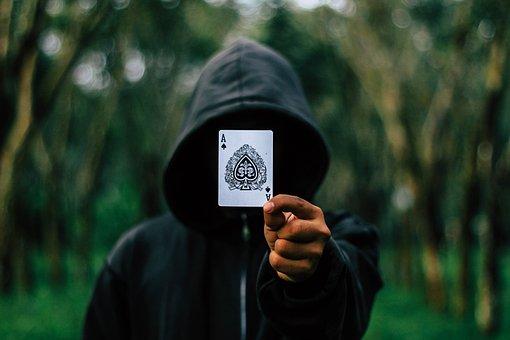 Ace, Cards, Hooded, Hood, Man, Adult