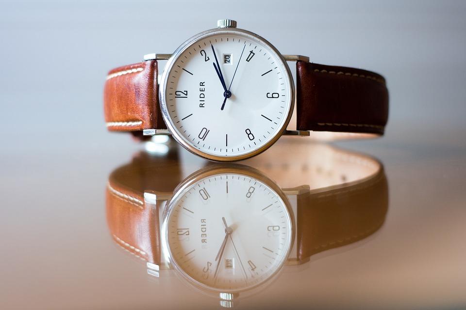 アナログ時計, 時間, 時計, 腕時計, 古典的な, エレガント, ファッション, 革, 分, 精度, 水晶