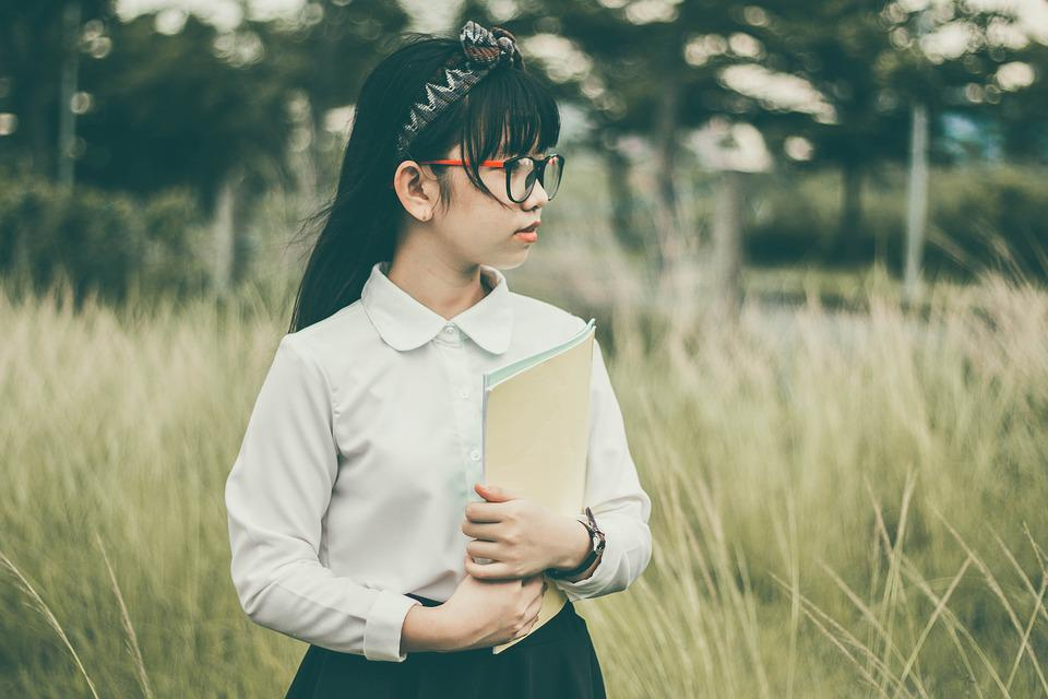 Asian, School Children, Student, Book, Child, Field