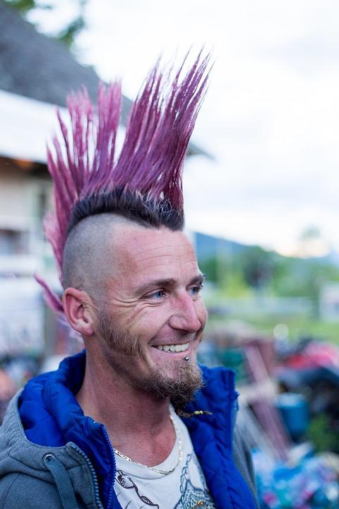 Irokesen Punk Mohawk Kostenloses Foto Auf Pixabay