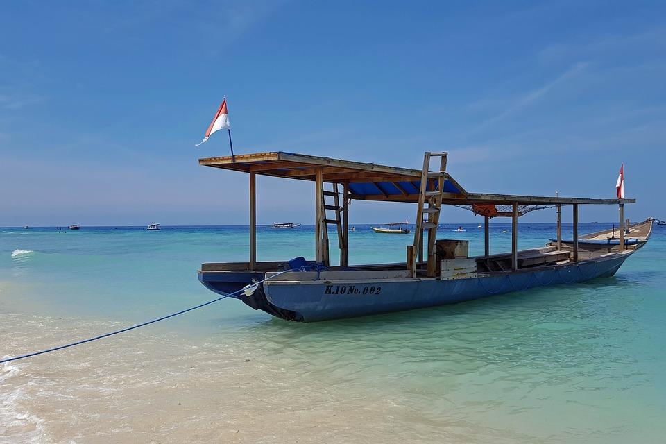 Indonésie, Voyage, Îles Gili, Mer, Navire, L'Eau