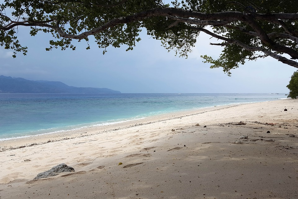 Indonésie, Voyage, Îles Gili, Mer, L'Eau, Plage, Sable