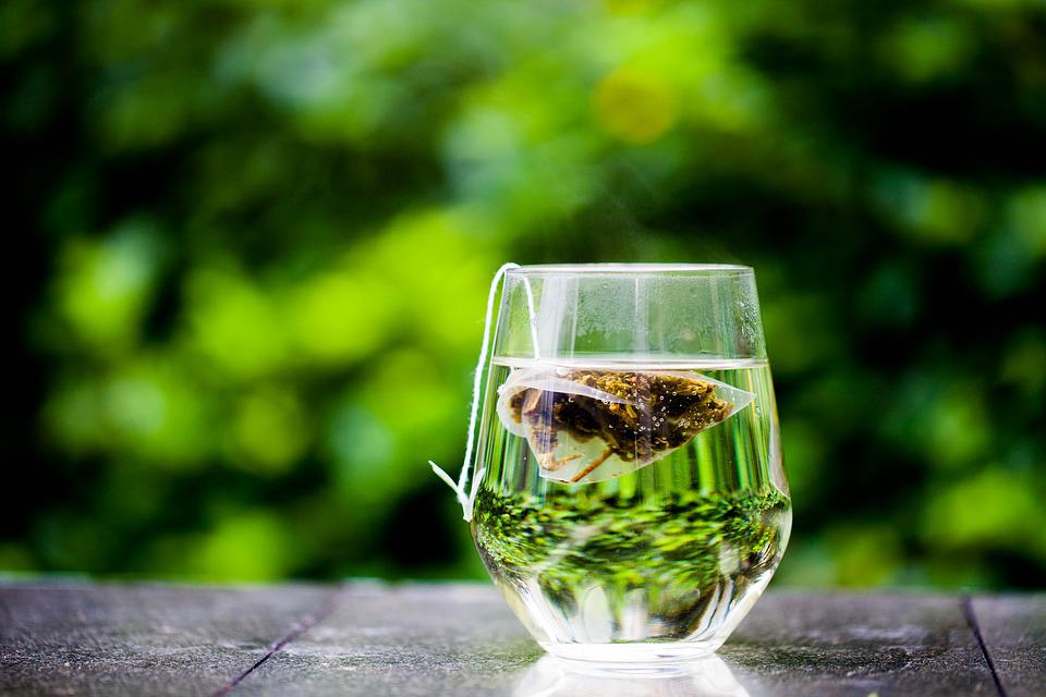 Tea Cup, Green, Tea Bag, Teabag, Outdoor, Elegant