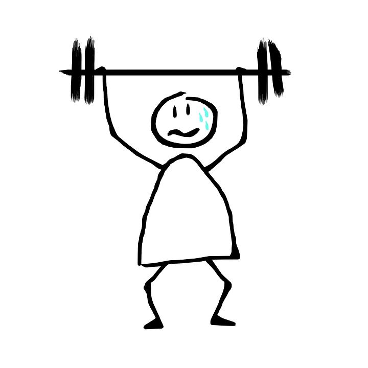 Отмены Весов, Усталость, Пот, Тренажерный Зал, Усилие