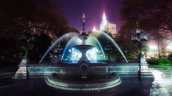Fountain, City Hall, New York City