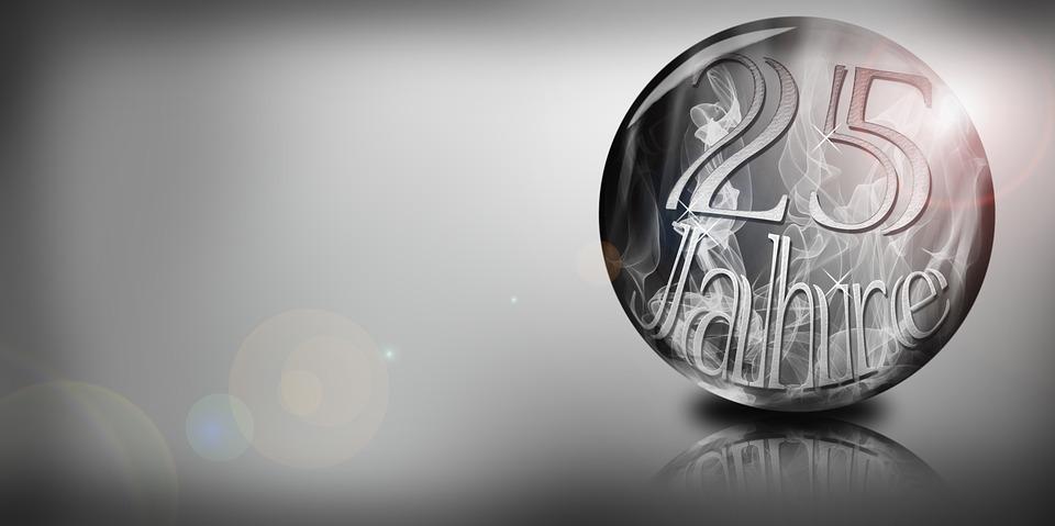 Jubilaum 25 Jahre Silberhochzeit Kostenloses Bild Auf Pixabay
