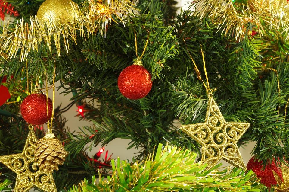 Boże Narodzenie, Dekoracje, Choinka, Piłka, Ozdoba