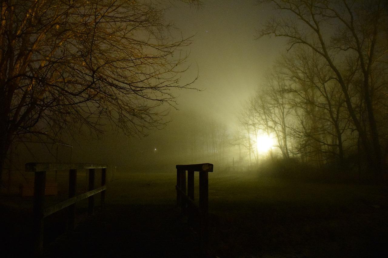 Туман ночью картинки