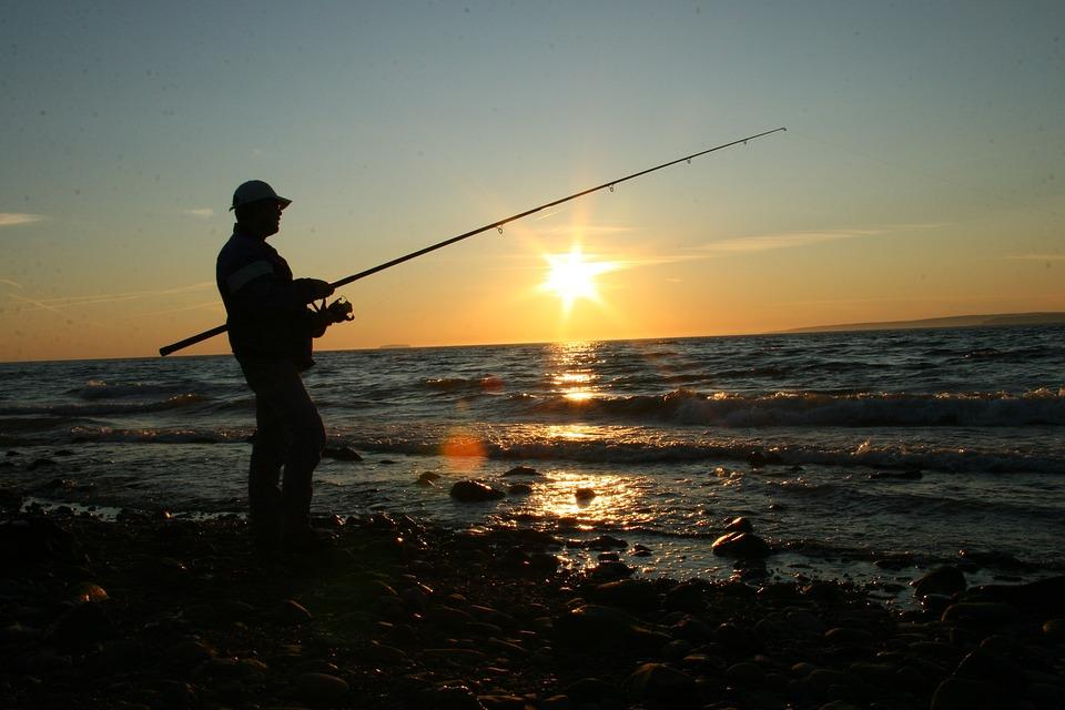 Wallpaper Fisherman Sunset Boat Hd Creative Graphics: Fishing Coast Ocean · Free Photo On Pixabay