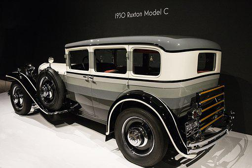 Car, 1930 Ruxton Model C, Art Deco
