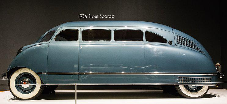 Car 1936 Stout Scarab Art Deco Automobile