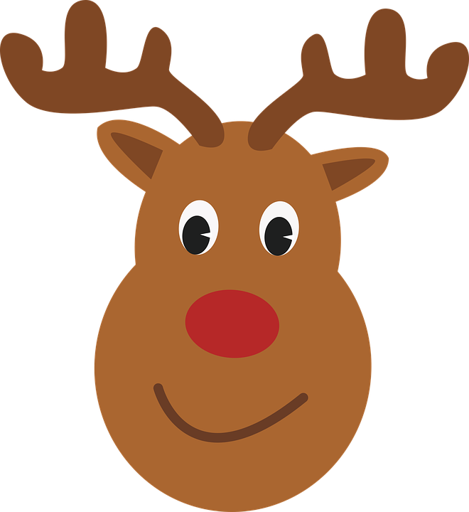 This is a graphic of Bright Printable Reindeer Face