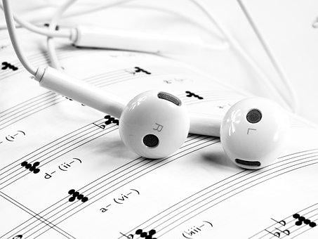 Music Headset White Note Mobile Phone