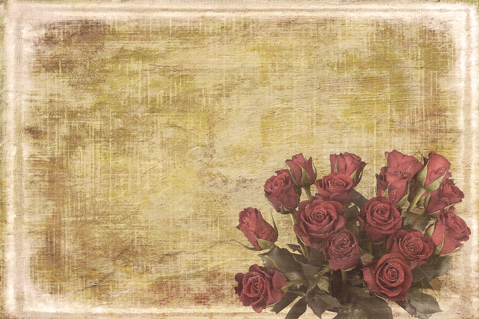 Vintage Shabby Chic Background Retro Flowers