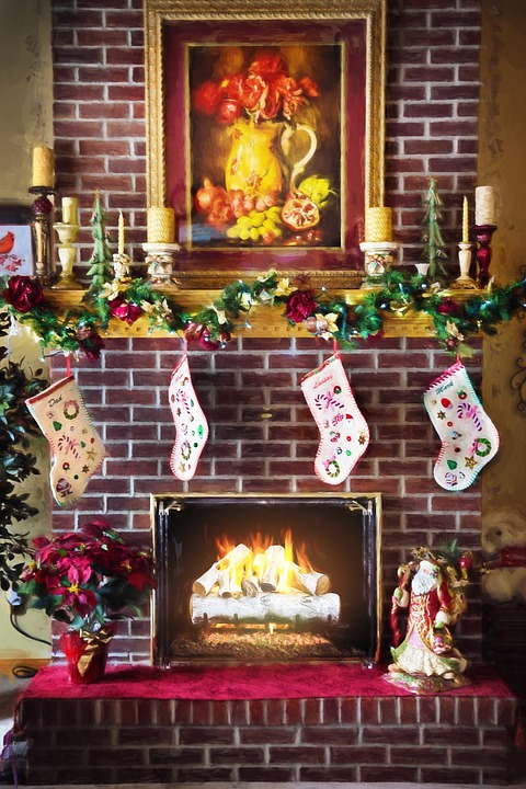 Christmas Fire Place Images.Christmas Fireplace Fire In Free Photo On Pixabay