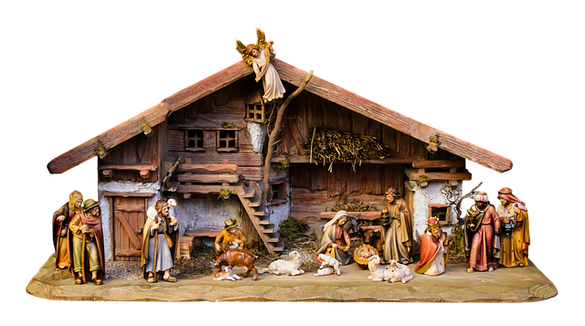 christmas nativity scene crib free photo on pixabay. Black Bedroom Furniture Sets. Home Design Ideas