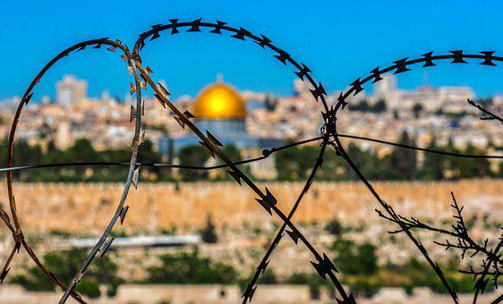 Barbed Wire, Jerusalem, Holy Land