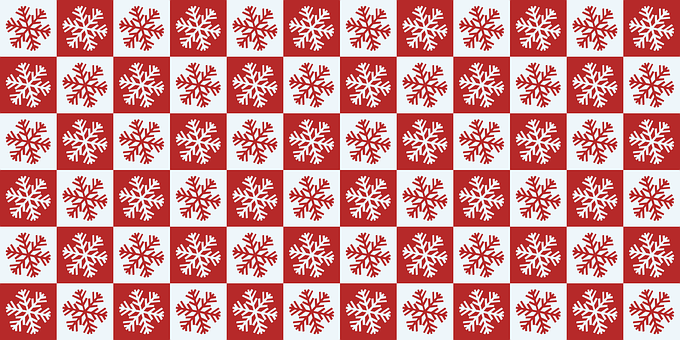 Snowflake, Red, White, Sample