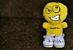 smiley, deceitful, sneakers