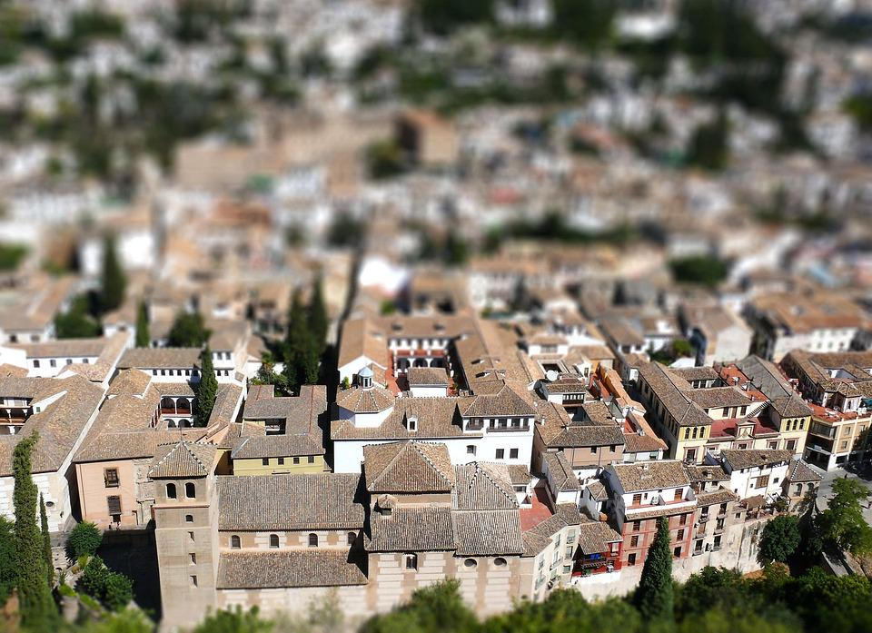 Granada Tilt-Shift The Old Town - Free photo on Pixabay