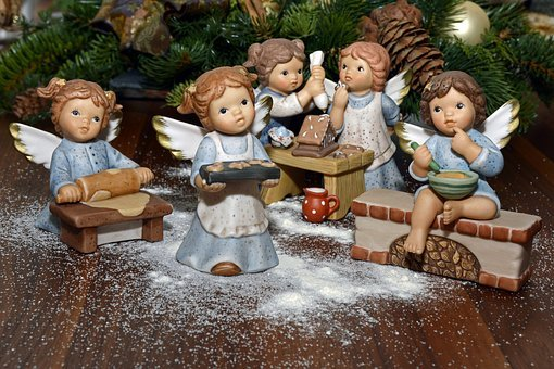 Angel, Bake, Decoration, Deco, Christmas