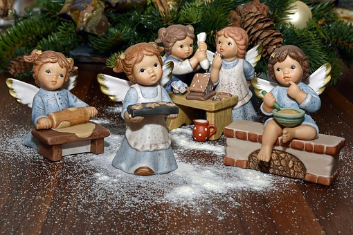 Angel, Bake, Decoration, Deco, Christmas