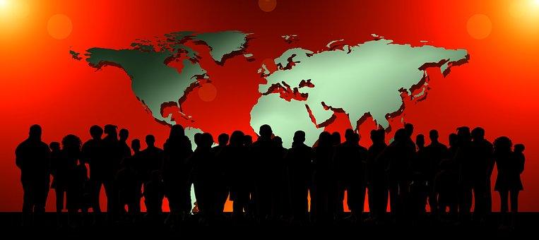 Personen, Gemeinschaft, Globus, Erde