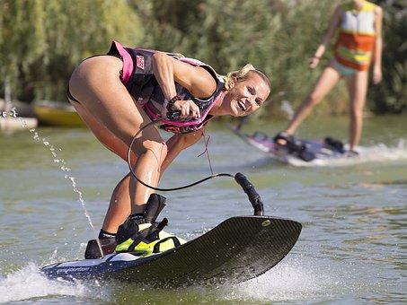 Water Skiing, Wakeboarding, Water, Tubing