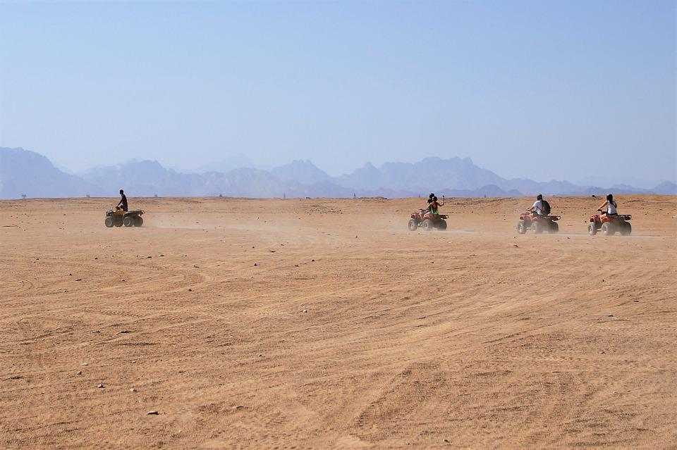 Desert, Desert Safari, Ride, Quads, Trip, Egypt, Dust