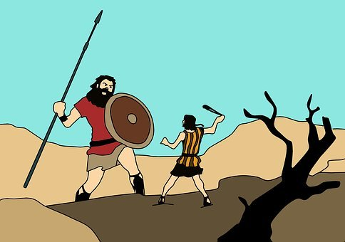 David And Goliath, Bible, Strength
