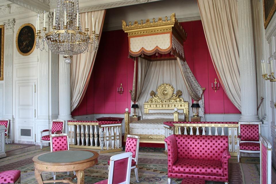 Paris  Versailles  Bedroom  Pink  Royal  Female. Free photo  Paris  Versailles  Bedroom  Pink   Free Image on