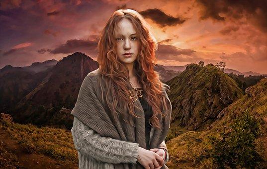 Mujer Celta, Mujeres, Joven, Pagano