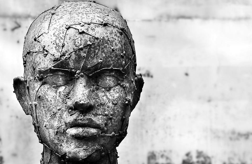 Sztuka, Rzeźba, Złom Rzeźby, Człowiek, Replika