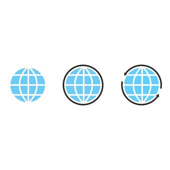 Internet, Icon, Globe, Design, Online